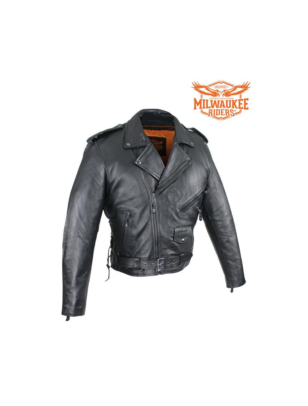 DS732 Mens Premium Classic Plain Side Police Style Jacket